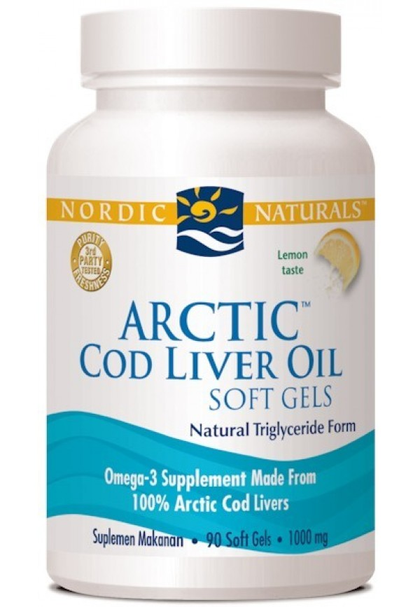Arctic Cod Liver Oil Softgels (Lemon)