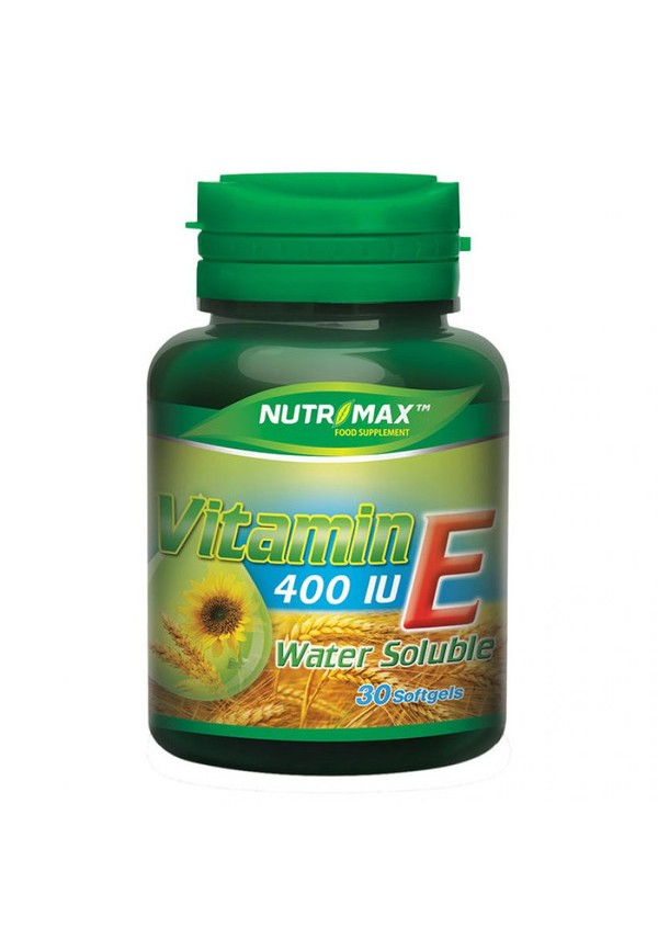 Water Soluble Vitamin E 400 IU 30 softgels