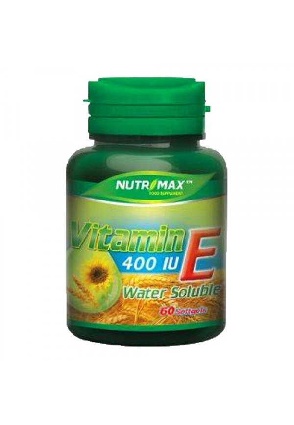 Nutrimax Water Soluble Vitamin E 400 IU 60 softgels